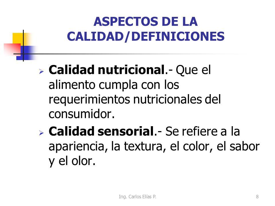 ASPECTOS DE LA CALIDAD/DEFINICIONES