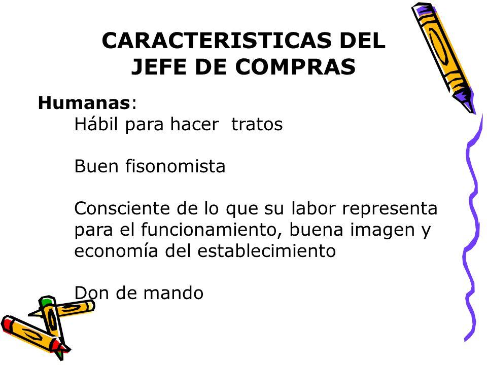 CARACTERISTICAS DEL JEFE DE COMPRAS
