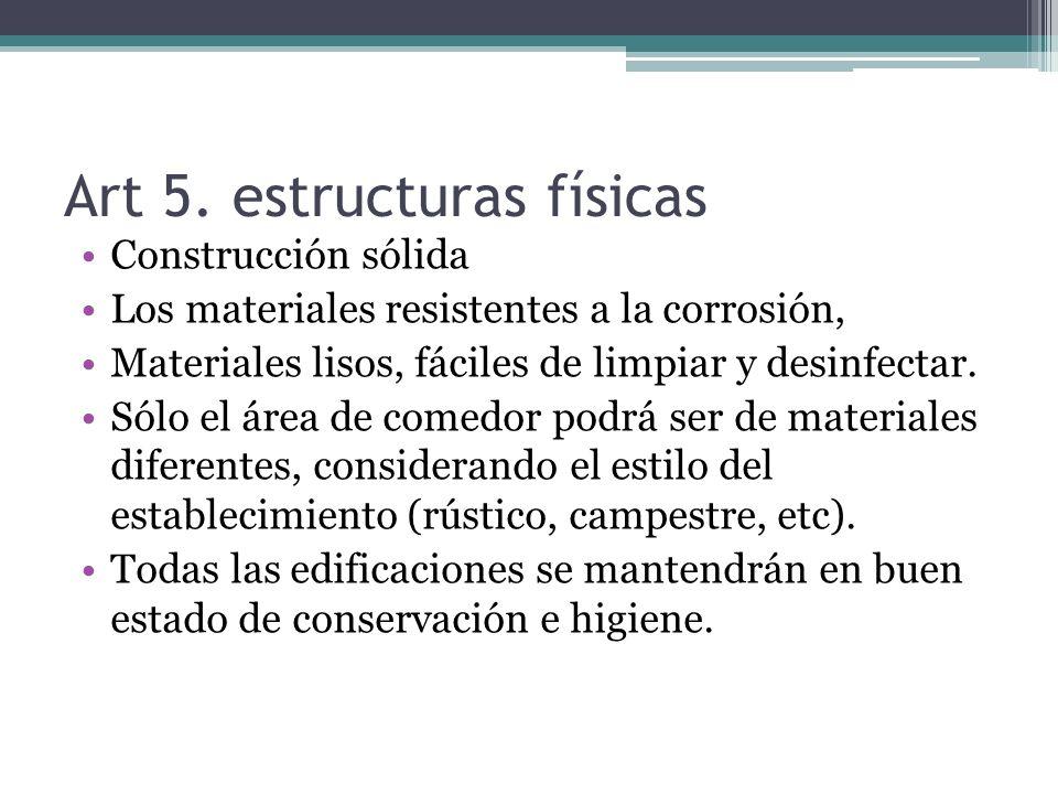Art 5. estructuras físicas