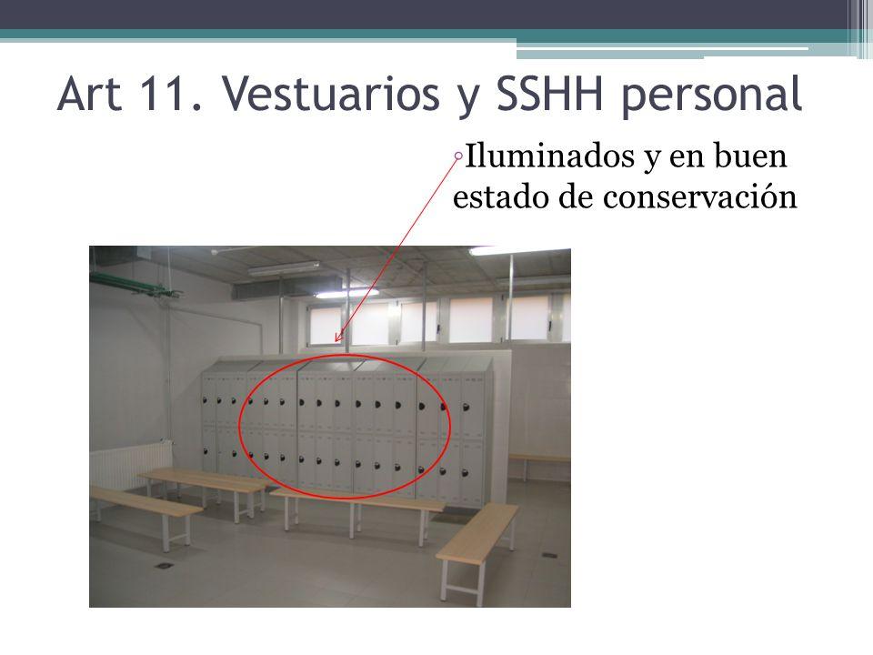 Art 11. Vestuarios y SSHH personal