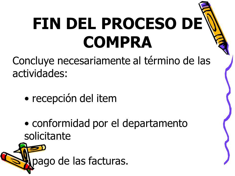 FIN DEL PROCESO DE COMPRA