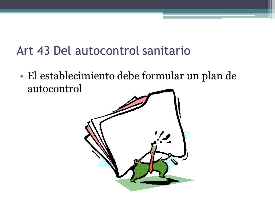 Art 43 Del autocontrol sanitario