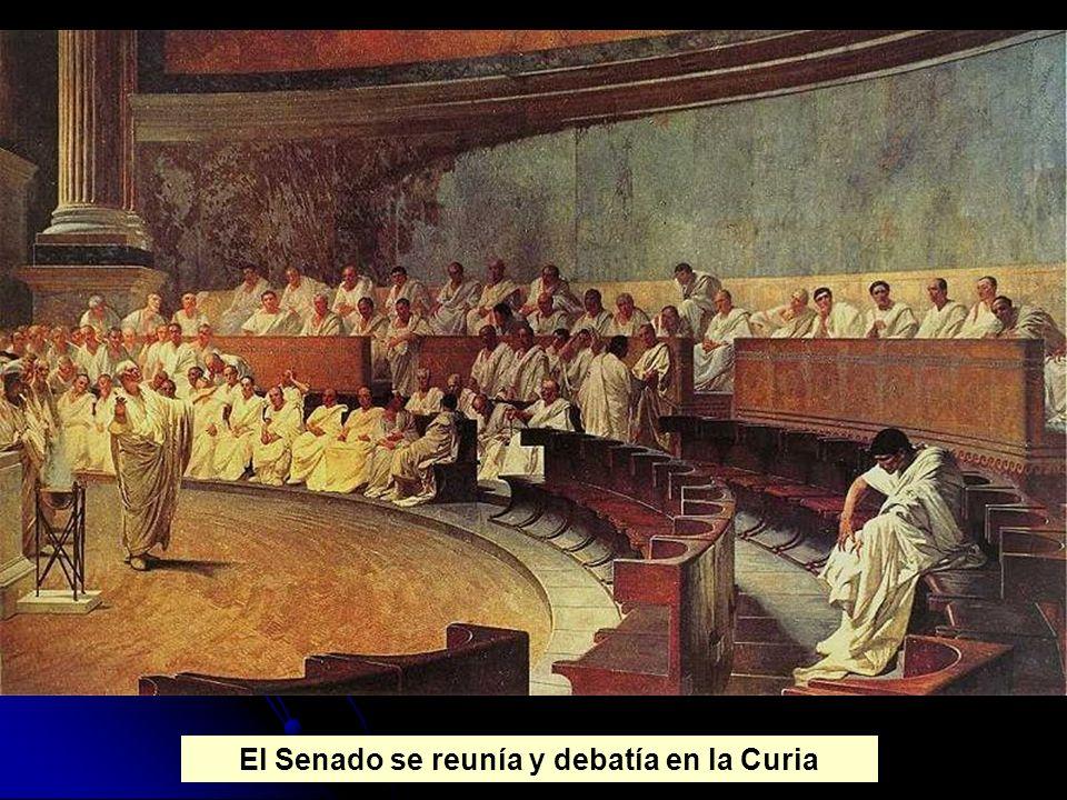 El Senado se reunía y debatía en la Curia