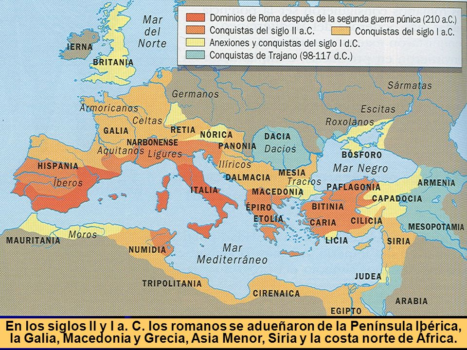 En los siglos II y I a. C.