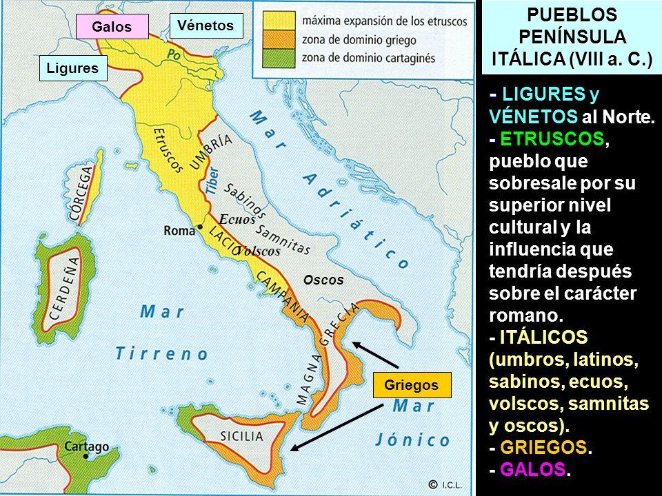 PUEBLOS PENÍNSULA ITÁLICA (VIII a. C.)