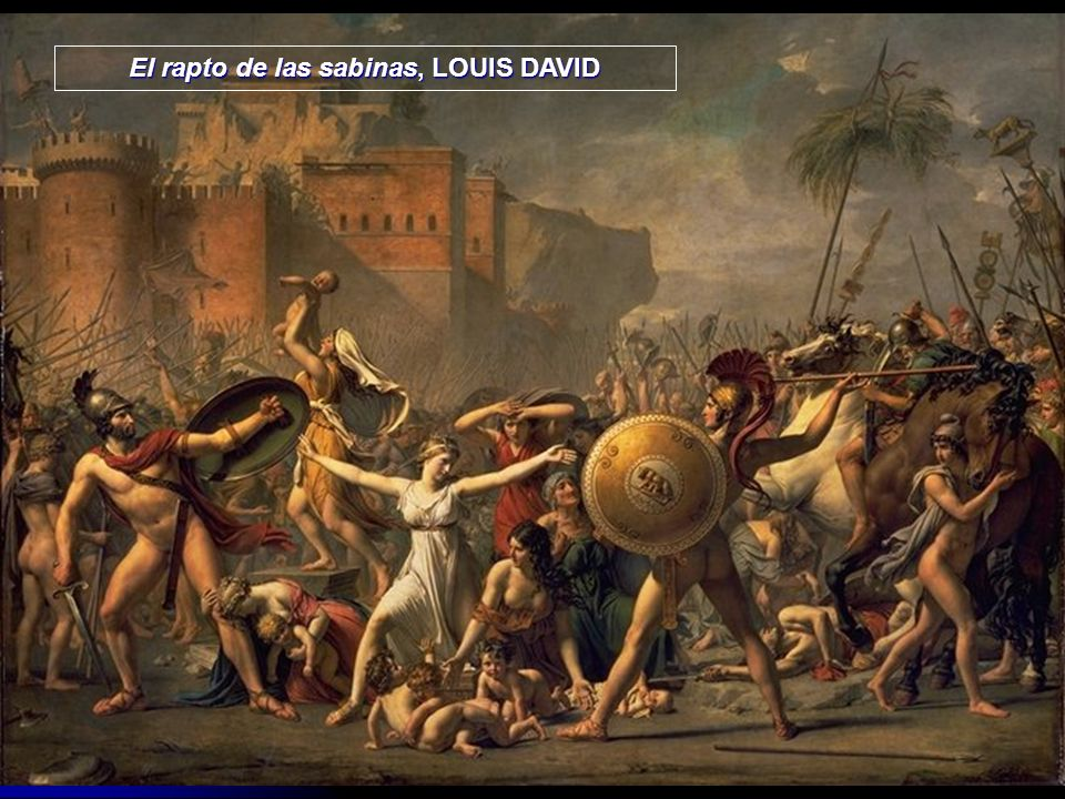 El rapto de las sabinas, LOUIS DAVID
