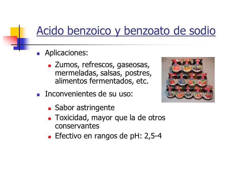 Acido benzoico y benzoato de sodio