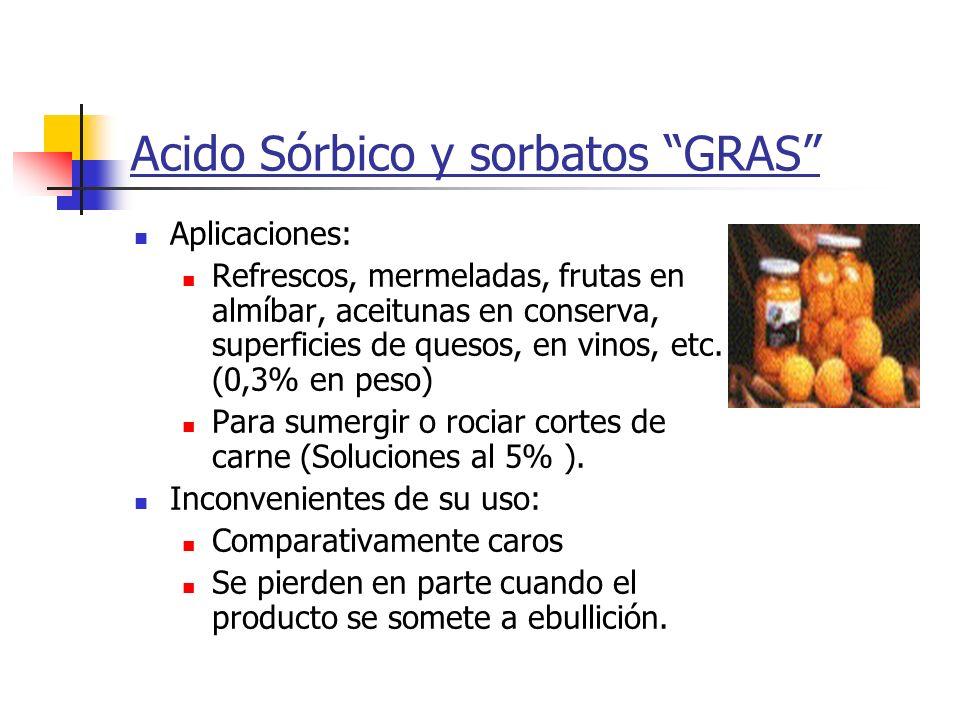 Acido Sórbico y sorbatos GRAS