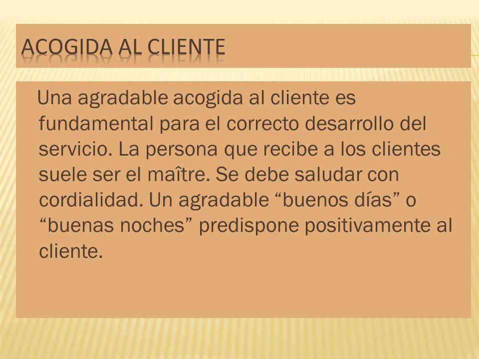 Acogida al cliente