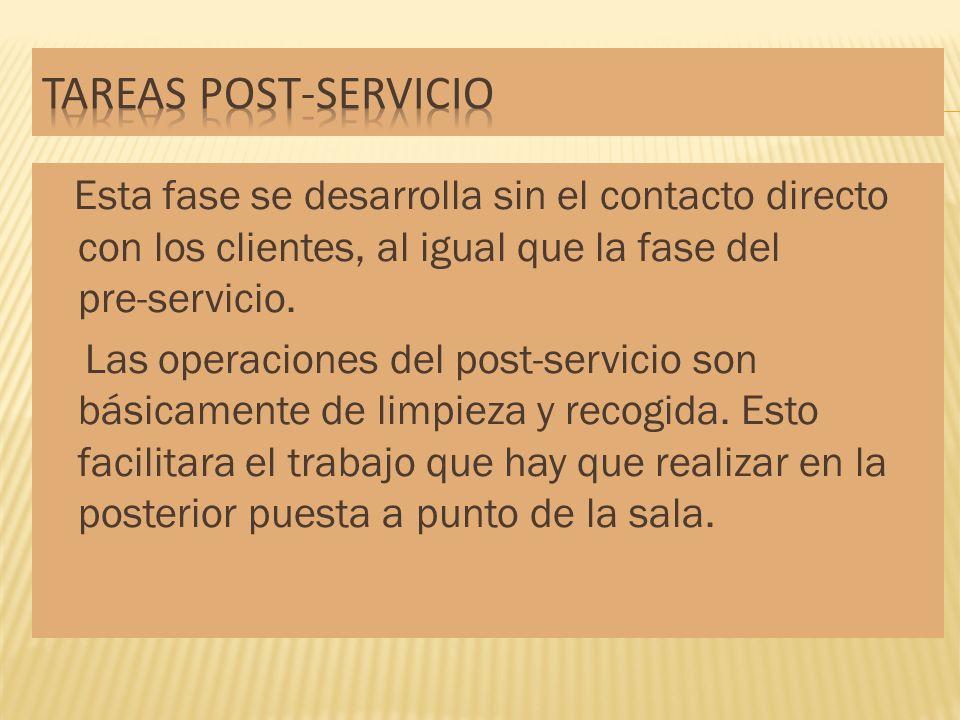 Tareas post-servicio