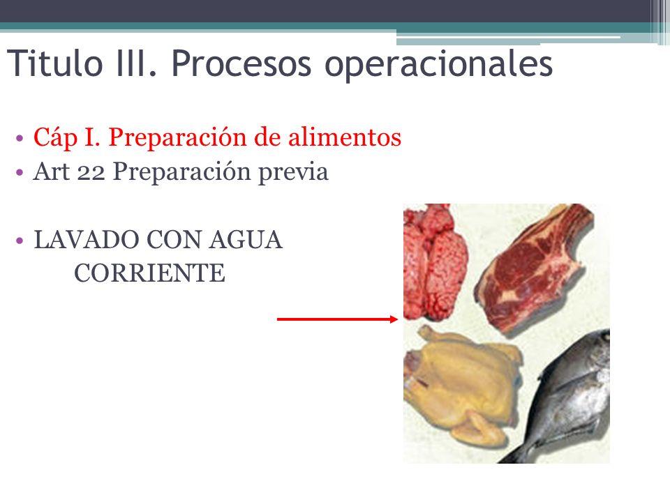 Titulo III. Procesos operacionales