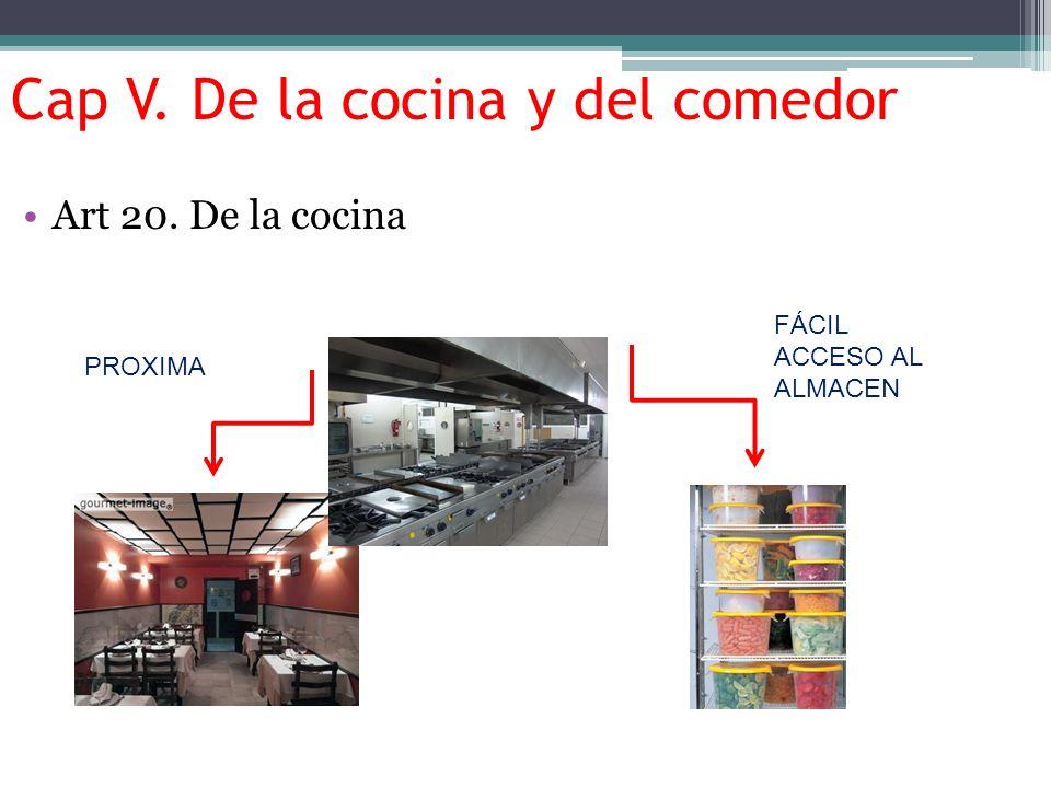 Cap V. De la cocina y del comedor