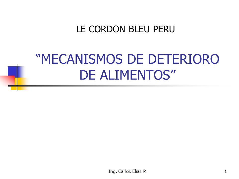 MECANISMOS DE DETERIORO DE ALIMENTOS