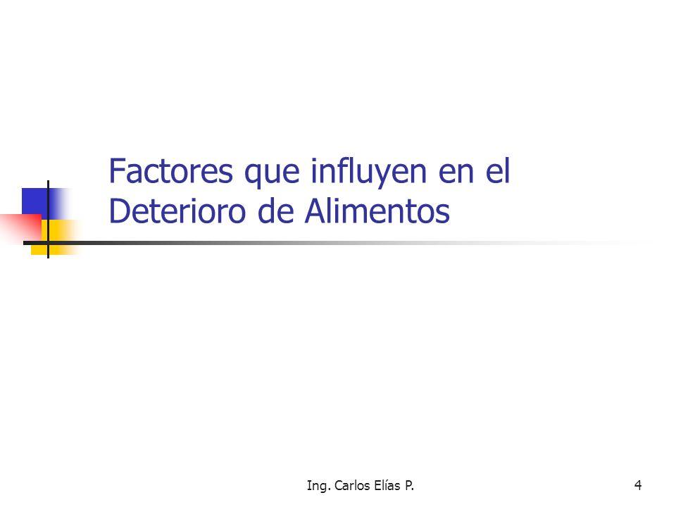 Factores que influyen en el Deterioro de Alimentos