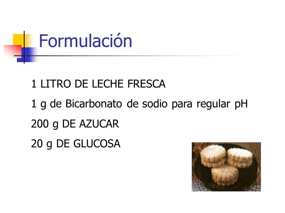 Formulación 1 LITRO DE LECHE FRESCA
