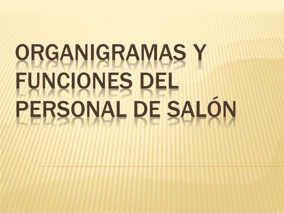 ORGANIGRAMAS Y FUNCIONES DEL PERSONAL de salón