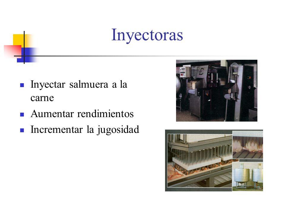 Inyectoras Inyectar salmuera a la carne Aumentar rendimientos