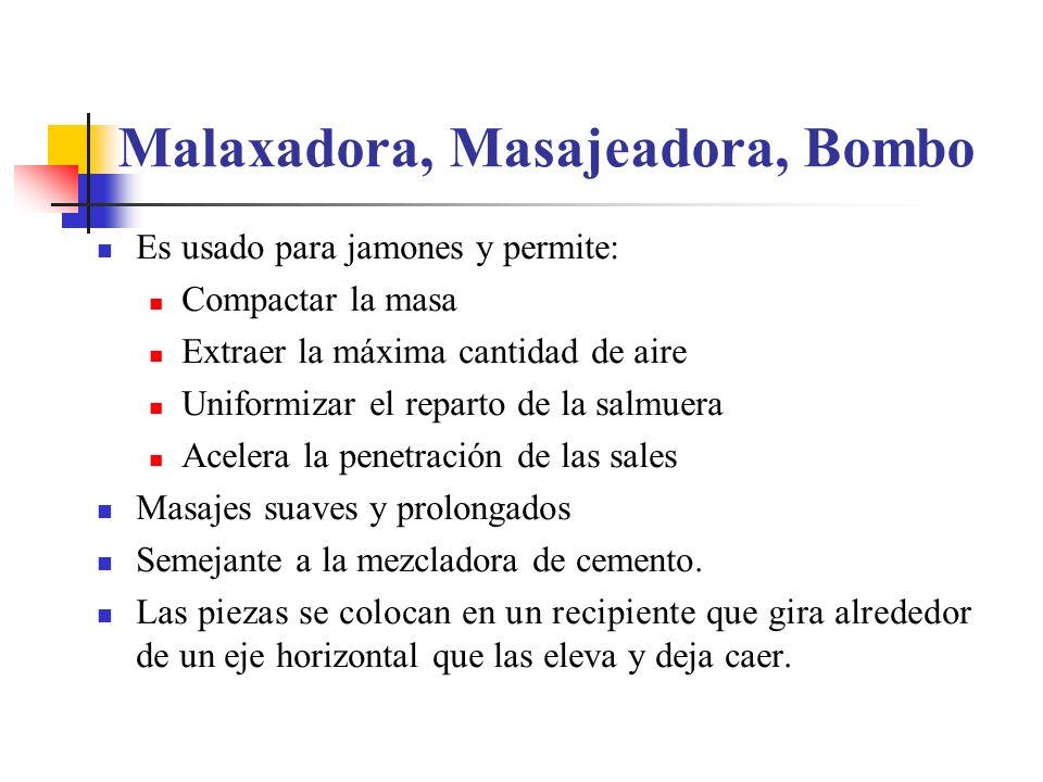 Malaxadora, Masajeadora, Bombo