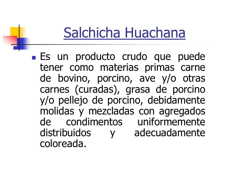Salchicha Huachana