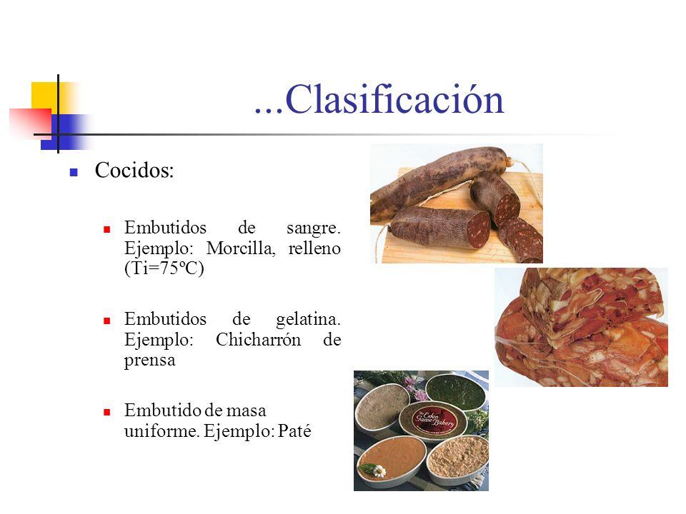 ...Clasificación Cocidos: