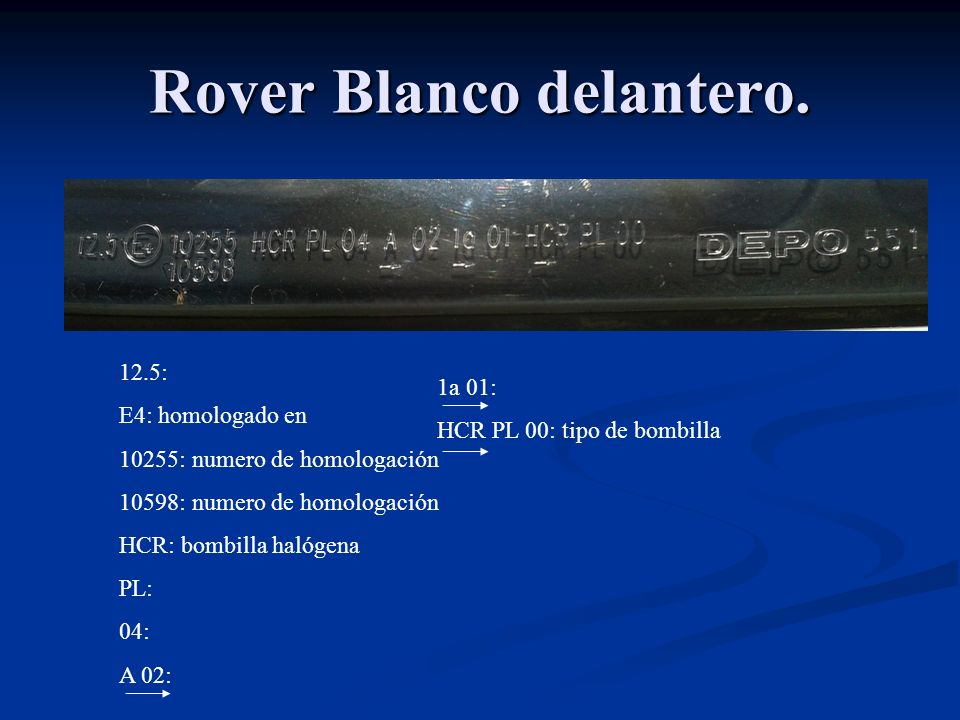 Rover Blanco delantero.