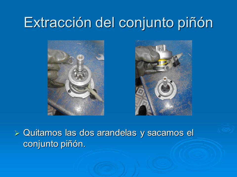 Extracción del conjunto piñón