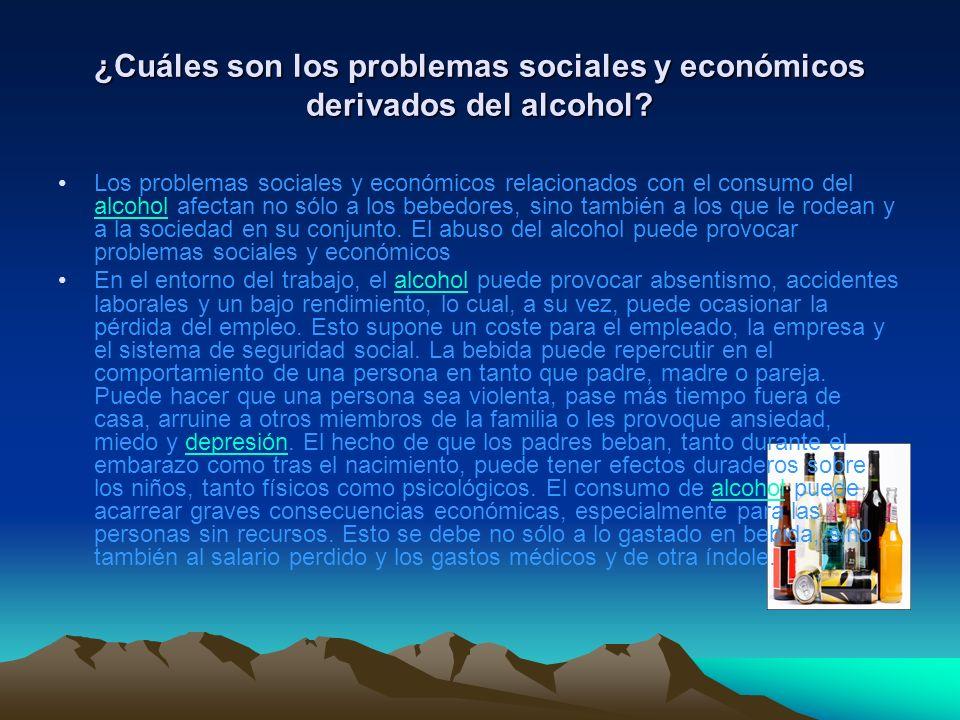 ¿Cuáles son los problemas sociales y económicos derivados del alcohol