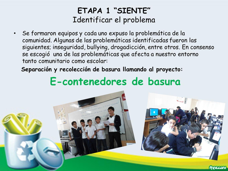 ETAPA 1 SIENTE Identificar el problema