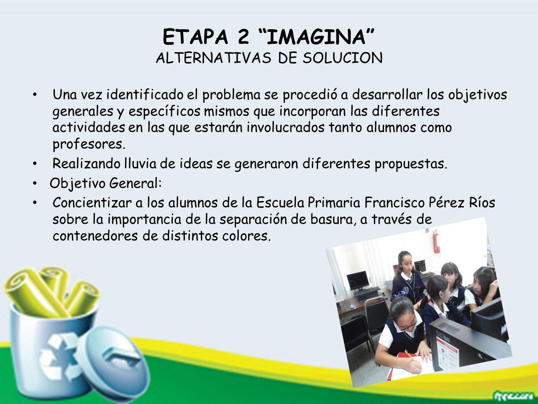 ETAPA 2 IMAGINA ALTERNATIVAS DE SOLUCION