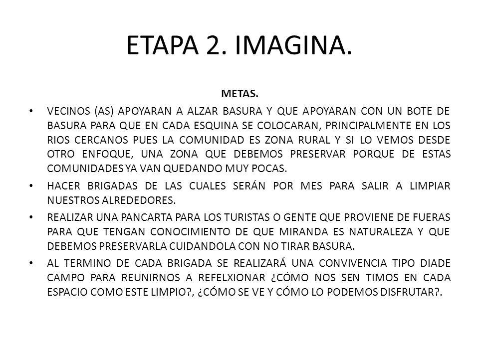 ETAPA 2. IMAGINA. METAS.