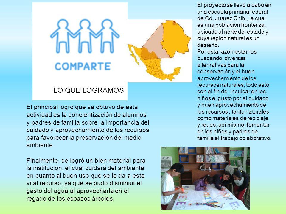 El proyecto se llevó a cabo en una escuela primaria federal de Cd