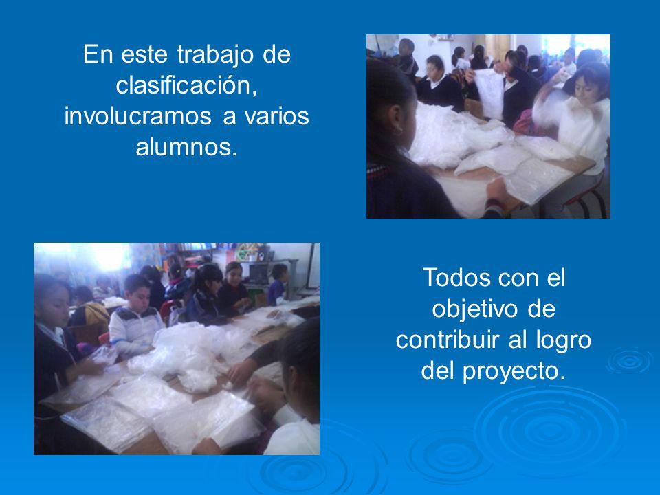 En este trabajo de clasificación, involucramos a varios alumnos.