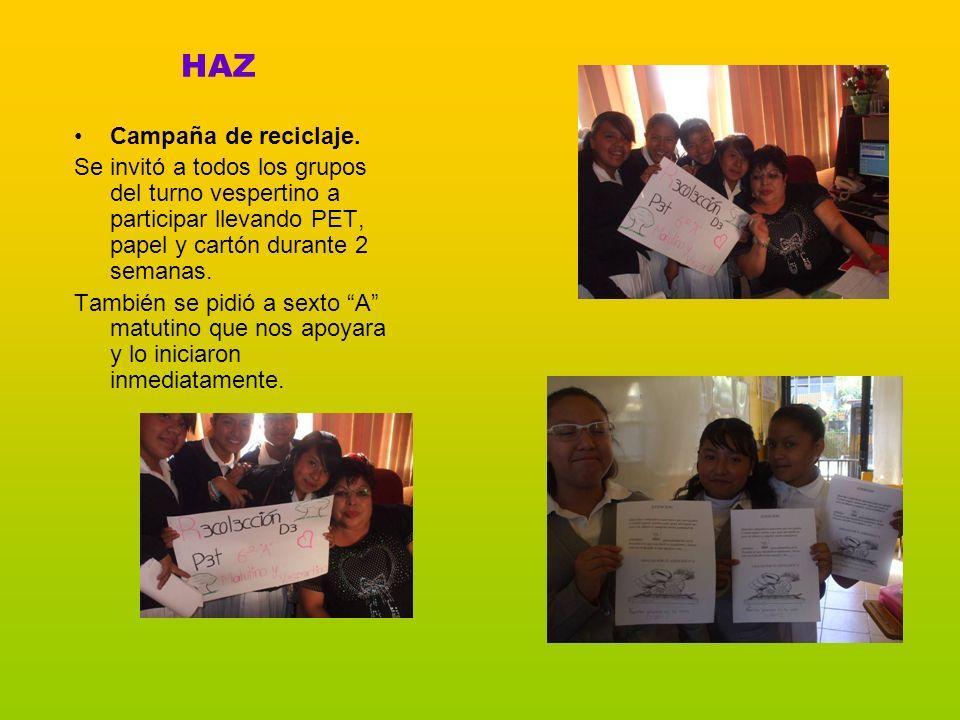 HAZ Campaña de reciclaje.