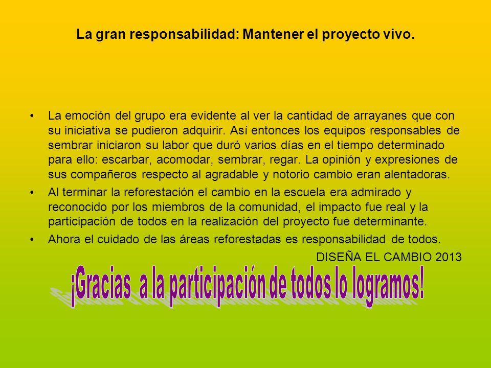 La gran responsabilidad: Mantener el proyecto vivo.