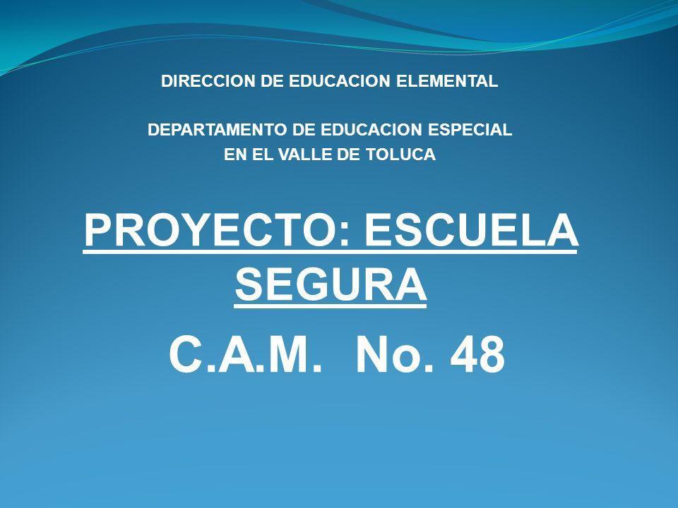 C.A.M. No. 48 PROYECTO: ESCUELA SEGURA