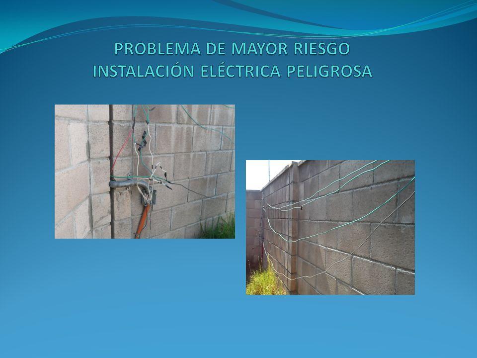 PROBLEMA DE MAYOR RIESGO INSTALACIÓN ELÉCTRICA PELIGROSA
