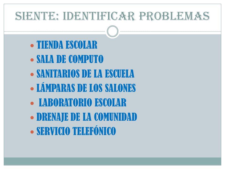 SIENTE: IDENTIFICAR PROBLEMAS