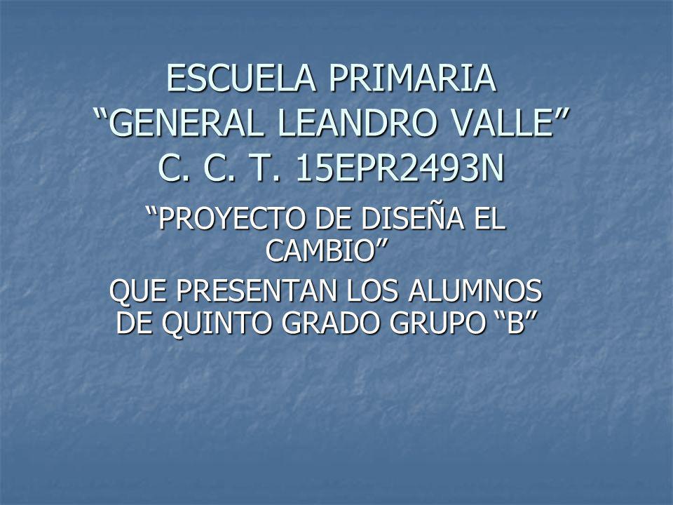 ESCUELA PRIMARIA GENERAL LEANDRO VALLE C. C. T. 15EPR2493N