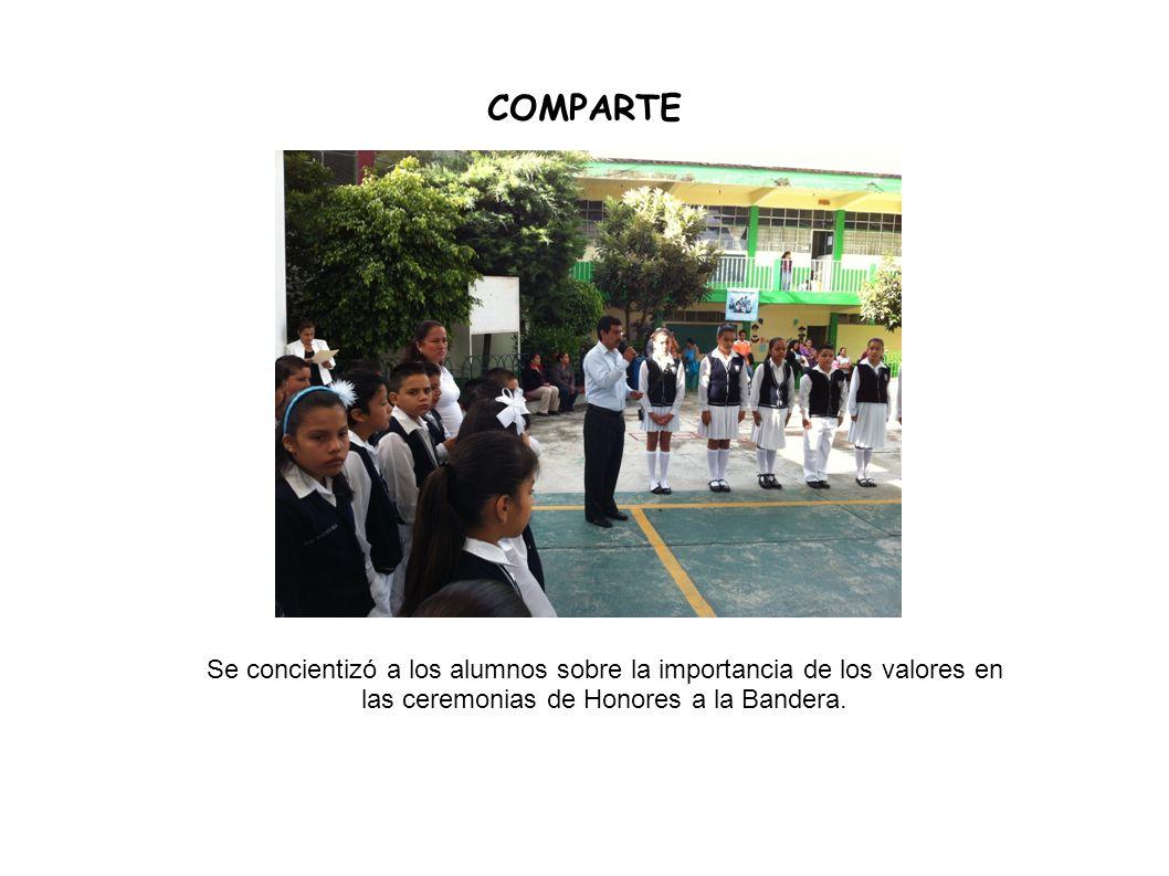 COMPARTE Se concientizó a los alumnos sobre la importancia de los valores en las ceremonias de Honores a la Bandera.