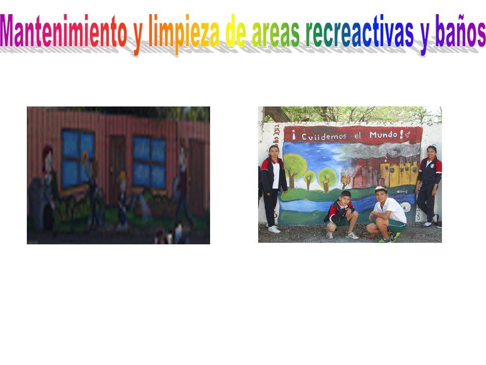 Mantenimiento y limpieza de areas recreactivas y baños