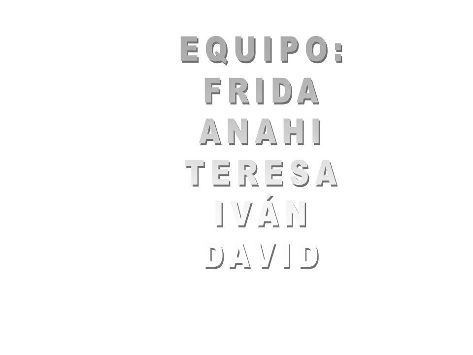 EQUIPO: FRIDA ANAHI TERESA IVÁN DAVID
