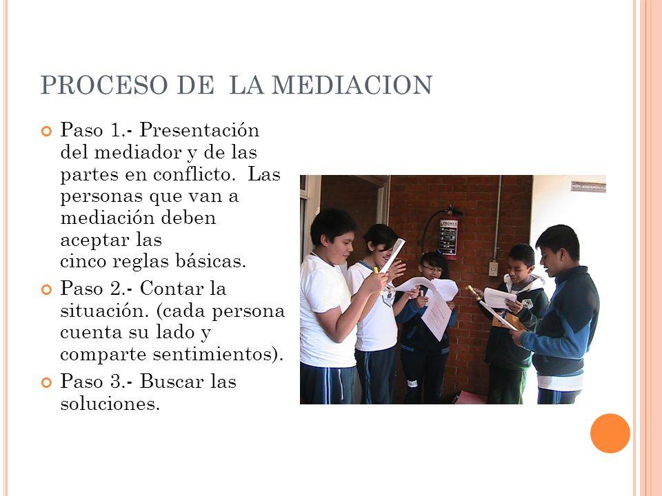 PROCESO DE LA MEDIACION