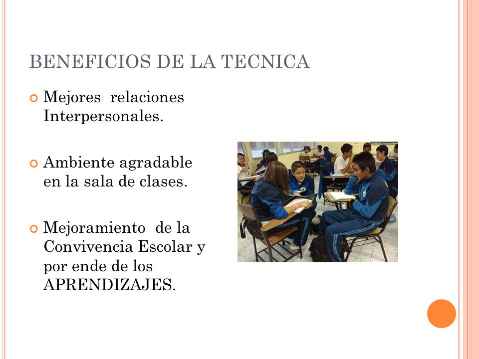 BENEFICIOS DE LA TECNICA