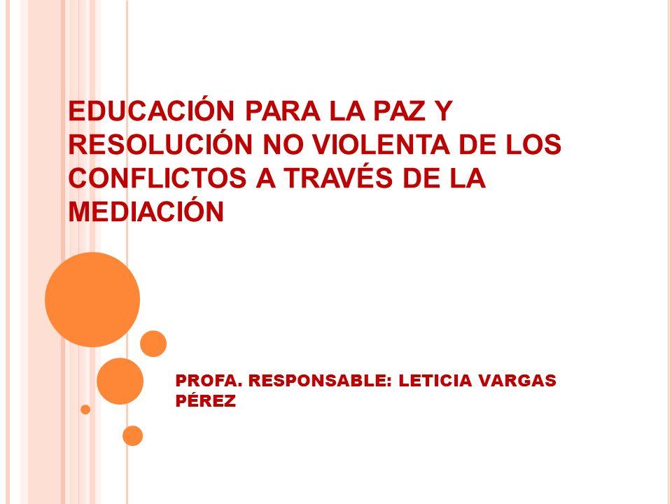 PROFA. RESPONSABLE: LETICIA VARGAS PÉREZ