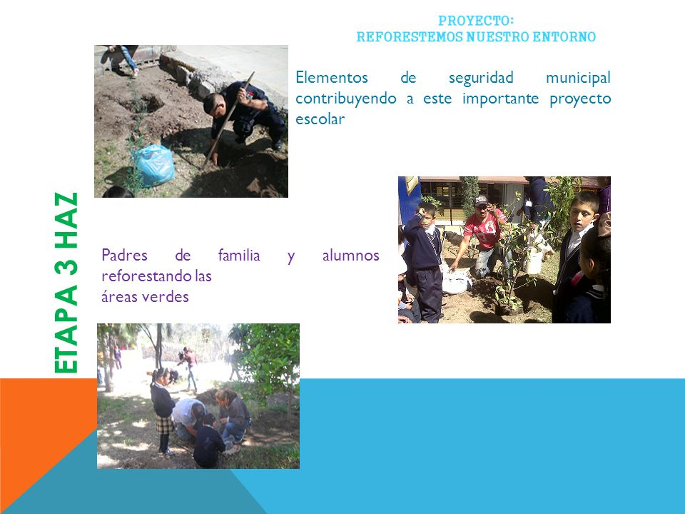 Elementos de seguridad municipal contribuyendo a este importante proyecto escolar