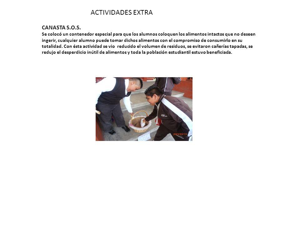 ACTIVIDADES EXTRA CANASTA S.O.S.