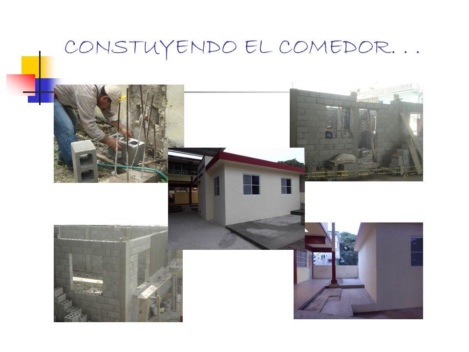 CONSTUYENDO EL COMEDOR. . .