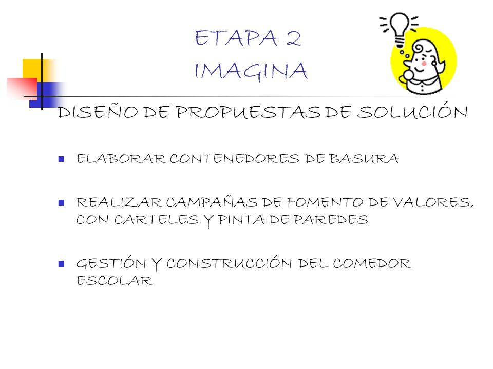 ETAPA 2 IMAGINA DISEÑO DE PROPUESTAS DE SOLUCIÓN