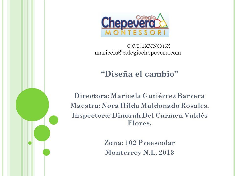 Diseña el cambio Directora: Maricela Gutiérrez Barrera