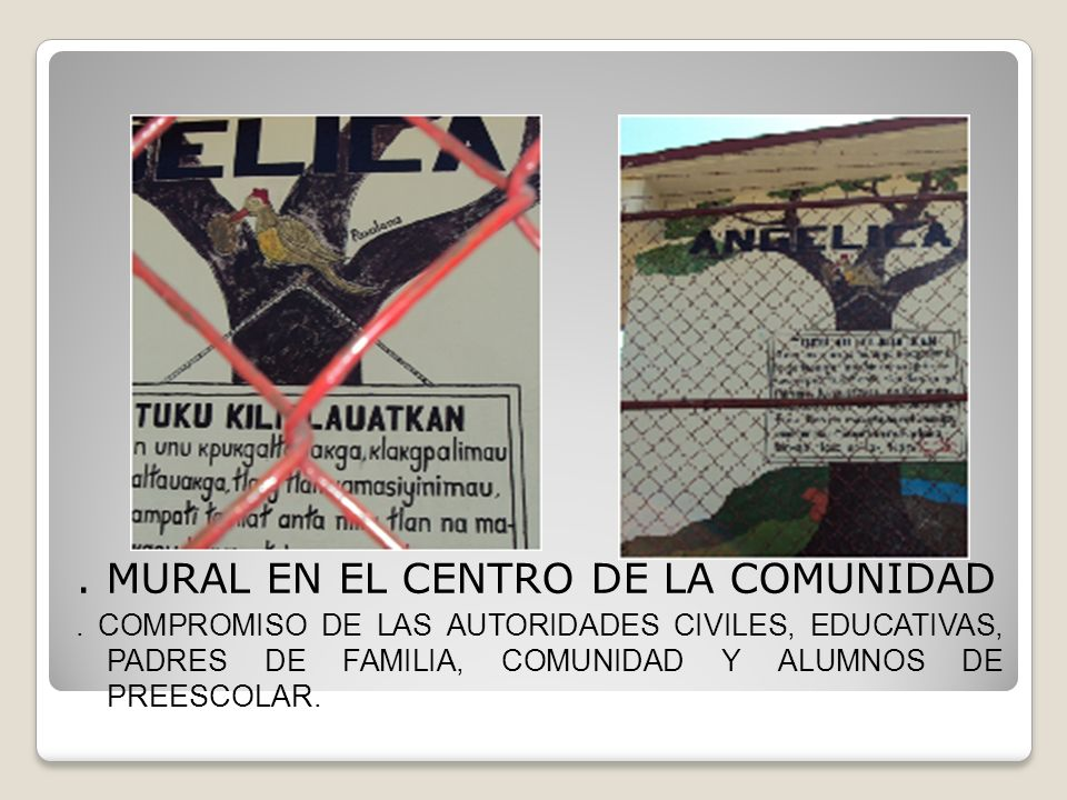 . MURAL EN EL CENTRO DE LA COMUNIDAD